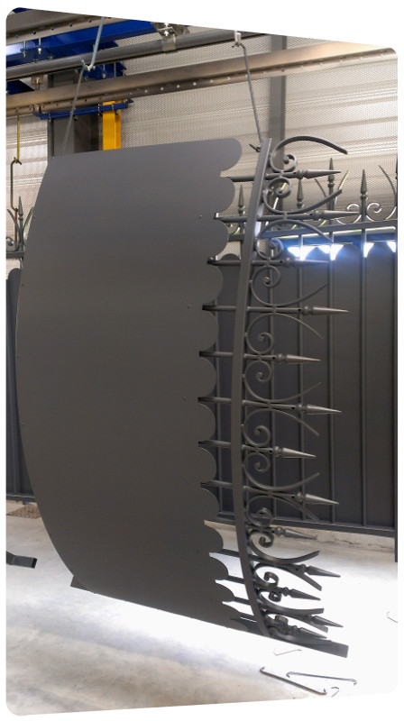 portail galva cloture courbe thermolaquage 17