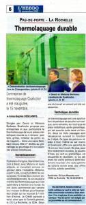 Presse – L'HEBDO de Charente-Maritime