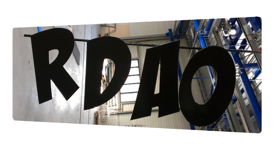 decoration peinture lettres metal signaletique 17 la rochelle thermolaquage