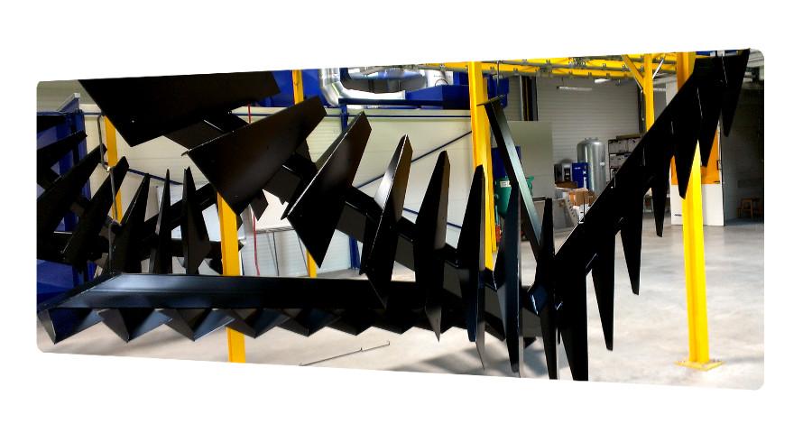 Escalier galvanisé peinture époxy