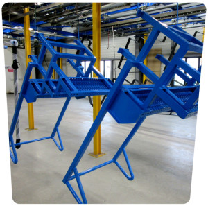 peinture escalier industriel thermolaquage 17 la rochelle