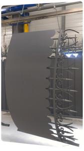 portail acier galvanisé cloture thermolaquage sur acier galvanise 16 17 79 la rochelle
