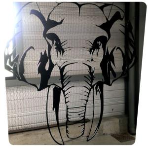 decoration elephant creation benjamin evano peinture sur acier ile de ré