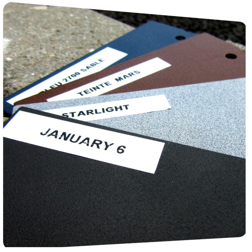detail couleur RAL texturés
