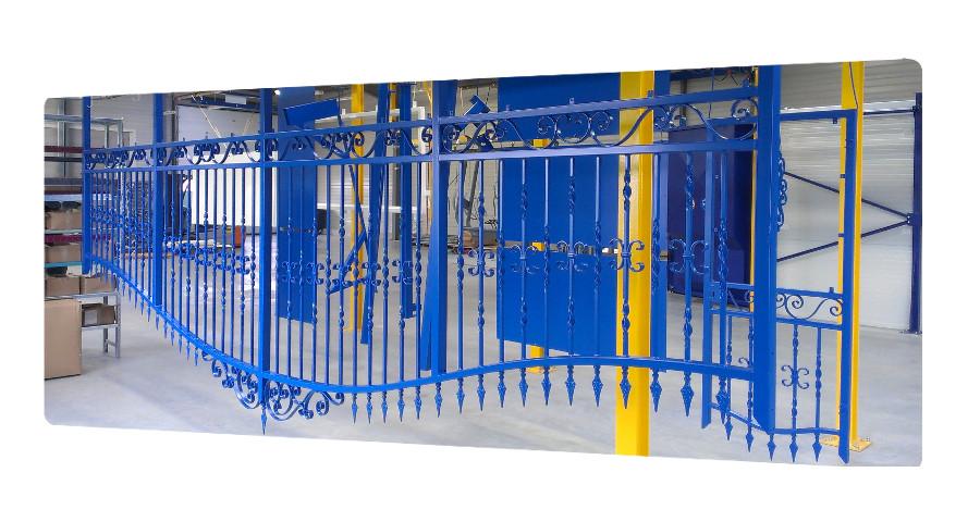 portail acier galvanisé 6 mètres thermolaquage 17 la rochelle