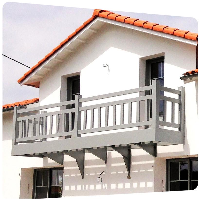 thermolaquage balcon 6 metres charente maritime galvanisation la rochelle