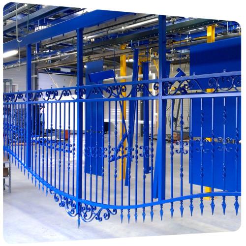 portail acier galvanisé 6 mètres thermolaquage 17