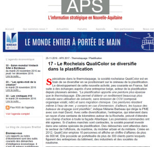 2016 novembre article aps nouvelle aquitaine plastification qualicolor