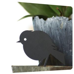 laquage deco oiseau metal pot fleurs charente maritime