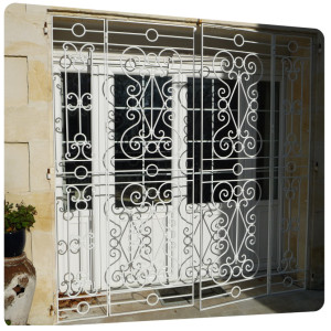 Grille fer forge galvanise peinture thermolaquage charente maritime