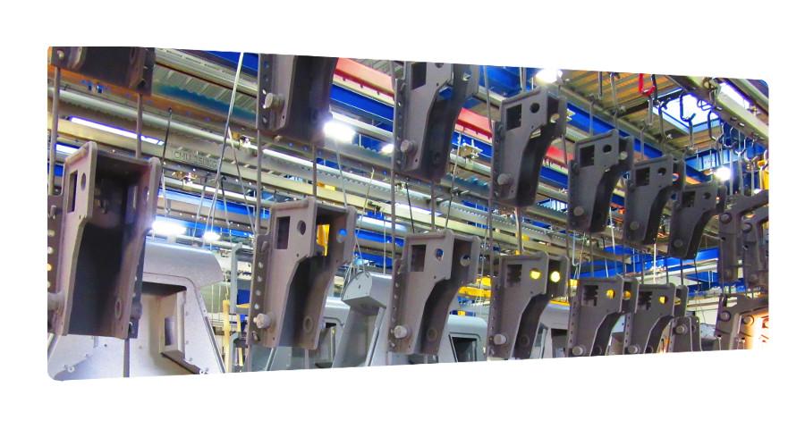 mise en peinture laquage pieces acier industrie serie 16 17 79 33 85