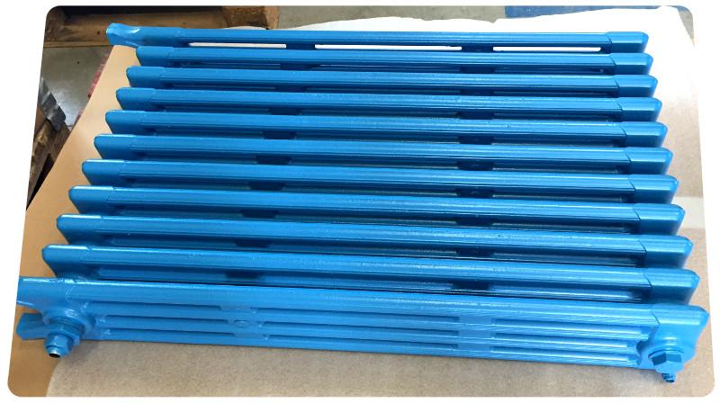 radiateur apres sablage thermolaquage bleu la rochelle ile de re