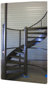 peinture assemblage metallique escalier ral7003