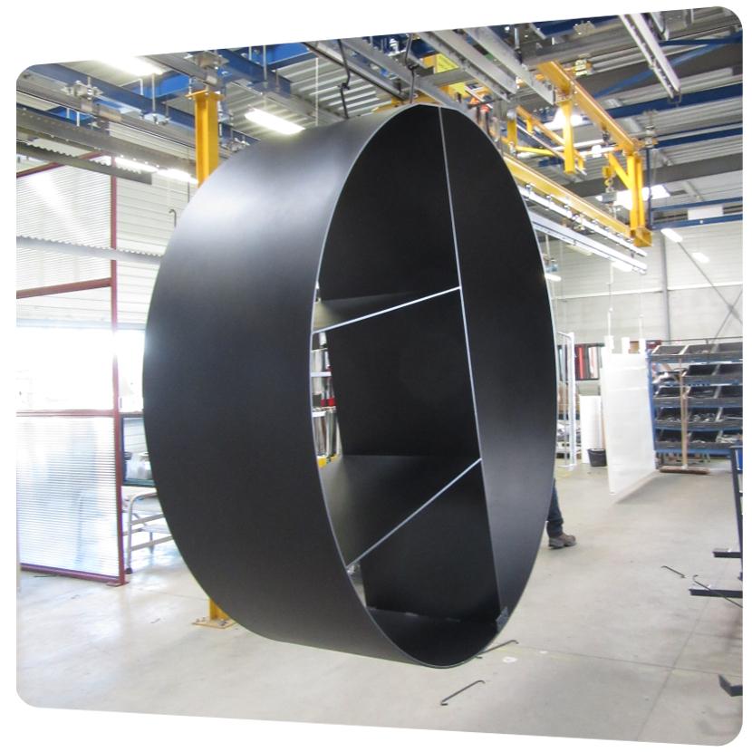 laquage piece volumineuse acier 3D batiment poitou charente aquitaine