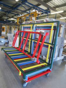 peinture laquage rack couleurs vives plastification chariot chevalet acier nouvelle aquitaine