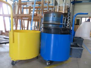 peinture poubelles structures acier industrie atelier la rochelle ile de ré