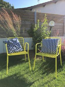 renovation laquage peinture chaise fauteuil metallique fer metal la rochelle ile de ré oléron rochefort