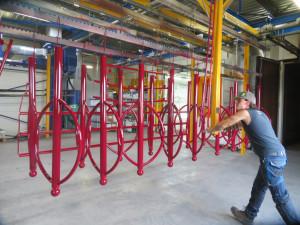 thermolaquage arceaux vélo supports métalliques acier galvanisé nouvelle aquitaine