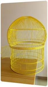 grille cage oiseaux acier laquage peinture jaune la rochelle ile de re oleron rochefort saintes