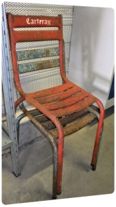 chaise objet chaise metal recup fer renovation couleur repeindre charente maritime