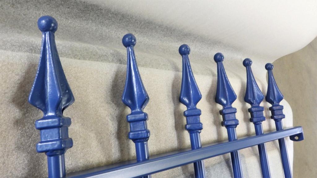 portail grille peinture sur acier galvanise bleu ile de re ile oleron thermolaquage