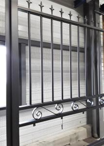 portail grille peinture sur galva poudre cuisson au four couleur noir 2100 sable texturé larochelle nouvelle aquitaine