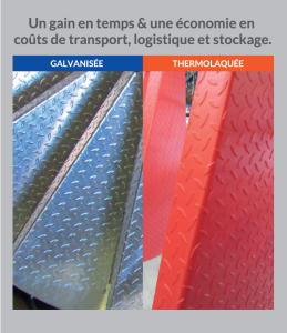 thermolaquage galvanisation peinture acier galvanisé à chaud la rochelle nouvelle aquitaine