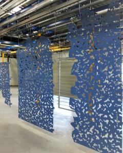 tole découpees design galvanise soubassement garde corps peinture bleu ile de france ile de re