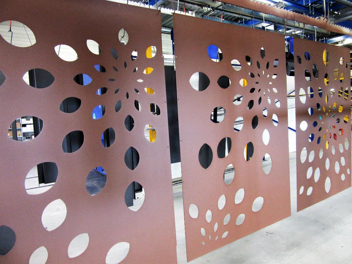toles aluminium decor jardin decoupe laser couleur rouille habillage la rochelle